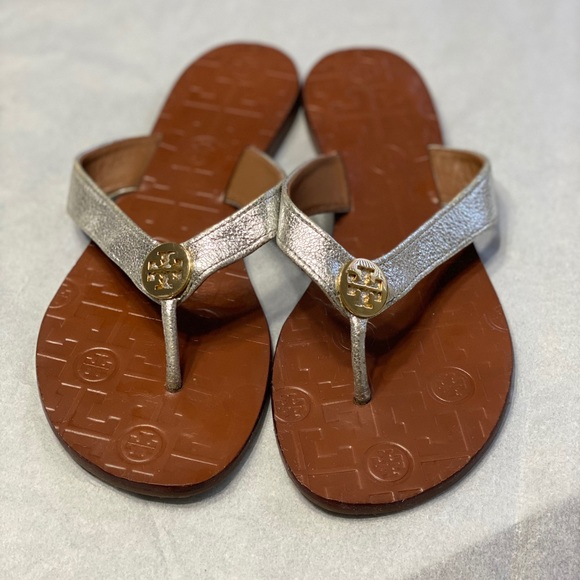 Tory Burch Silver Thora sandals